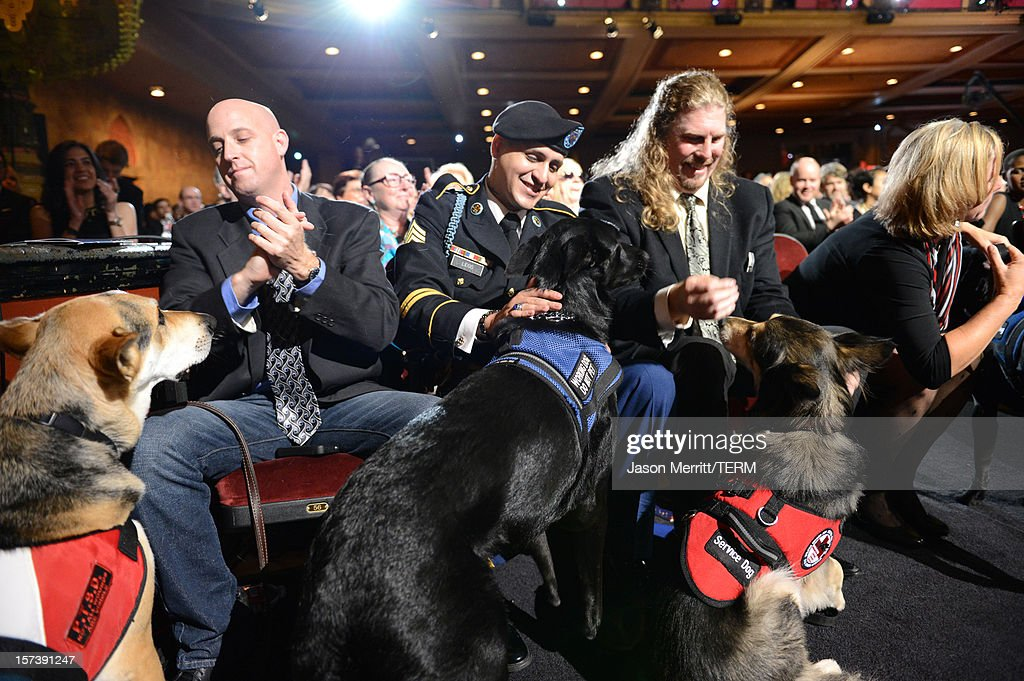 Dogs from Operation Freedom Paws attend the CNN Heroes: An All Star Tribute at The Shrine Auditorium on December 2, 2012 in Los Angeles, California. 23046_005_JM_0154.JPG