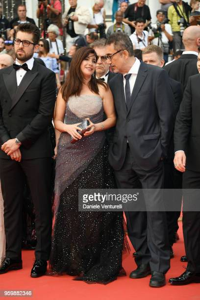 Dogu Demirkol Ebru Ceylan and Nuri Bilge Ceylan attend the screening of The Wild Pear Tree during the 71st annual Cannes Film Festival at Palais des...