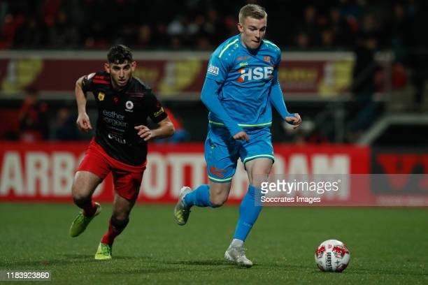 Dogucan Haspolat of Excelsior Rotterdam, Derry John Murkin of FC Volendam during the Dutch Keuken Kampioen Divisie match between Excelsior v FC...