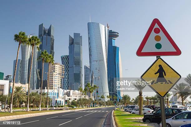 Doha city skyline, Qatar