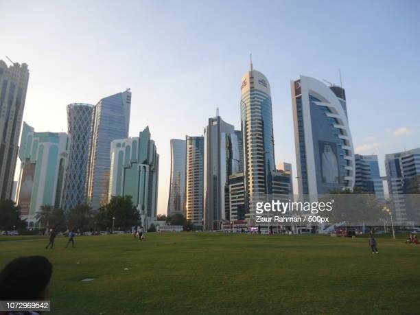doha city view - ziaur rahman stock pictures, royalty-free photos & images