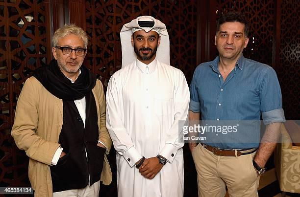 Doha Film Institute Artistic Advisor Elia Suleiman Doha Film Institute Chief Administrative Officer Abdulla Al Mosallam and Qumra Master and Academy...