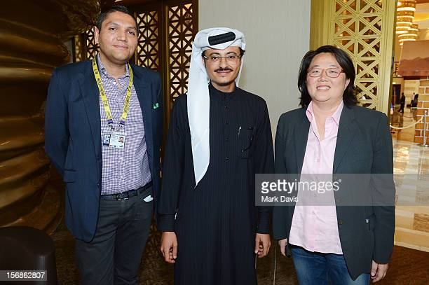 Doha Film Institute CEO Abdulaziz Bin Khalid AlKhater and Rajesh Singh Head of Corporate Governance Executive Office attend the Awards Lunch during...