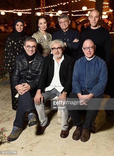 Doha Film Institute CEO Fatma Al Remaihi and Doha Film Institute Artistic Advisor Elia Suleiman with 2016 Qumra Masters Naomi Kawase Alexsandr...