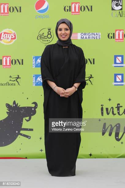 Doha Film Institute CEO Fatma Al Remaihi attends Giffoni Film Festival 2017 photocall on July 18 2017 in Giffoni Valle Piana Italy