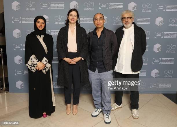Doha Film Institute CEO Fatma Al Remaihi DFI Director of the Film Fund and Programs Hanaa Issa director Apichatpong Weerasethakul and Doha Film...