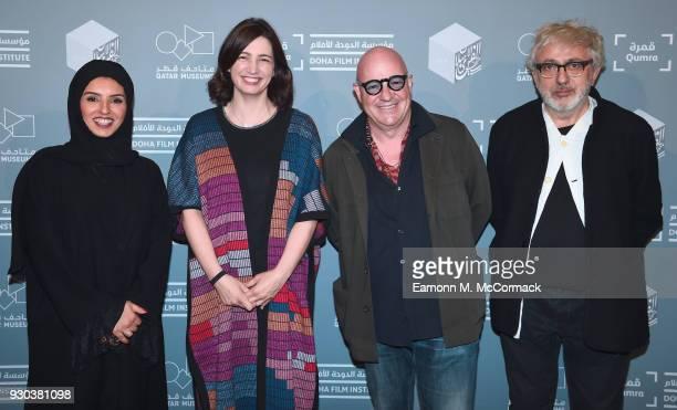 Doha Film Institute CEO Fatma Al Remaihi DFI Director of the Film Fund and Programs Hanaa Issa director Gianfranco Rosi and Doha Film Institute...