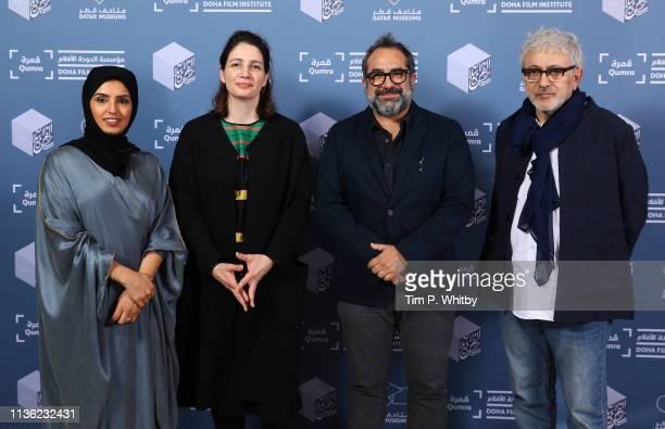 Doha Film Institute CEO Fatma Al Remaihi, Director of Strategy and Development and Deputy Director Hanaa Issa, Qumra Master Eugenio Caballero and...
