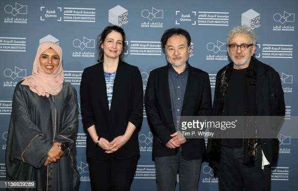 Doha Film Institute CEO Fatma Al Remaihi Director of Strategy and Development and Deputy Director Hanaa Issa Qumra Master Kiyoshi Kurosawa and Doha...