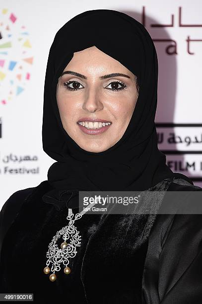 Doha Film Institute CEO Fatma Al Remaihi on the red carpet at the regional premiere of The Idol co financed by the Doha Film Institute on the opening...