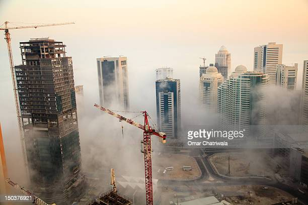 Doha in fog