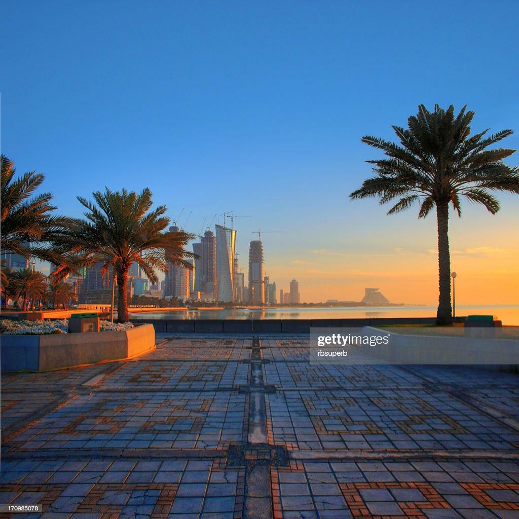 Doha Morning : Stock Photo