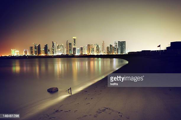 Doha night skyline