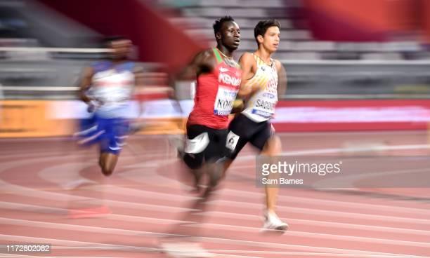 Doha , Qatar - 1 October 2019; Emmanuel Kipkurui Korir of Kenya competing in the Men's 400m Heats during day five of the World Athletics...