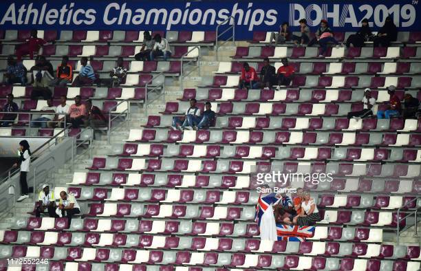 Doha Qatar 30 September 2019 A view of empty seats during day four of the World Athletics Championships 2019 at the Khalifa International Stadium in...