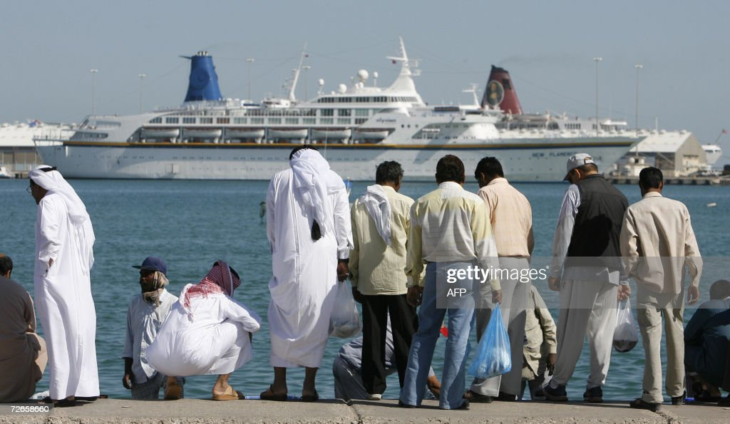 A Cruise Ship Moors Off The Coast Of Cen Pictures Getty Images - Buying a cruise ship