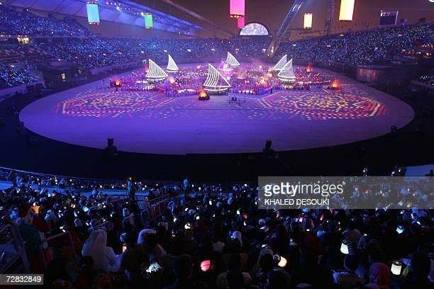 General view shows the closing ceremony at the end of the 15th Asian Games in Doha, 15 December 2006. The Games, which have been the biggest ever...