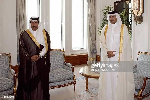 CORRECTING SOURCE Newlyappointed Qatari Prime Minister Sheikh Hamad bin Jassem bin Jabr alThani meets with Crown Prince Sheikh Tamim bin Hamad...