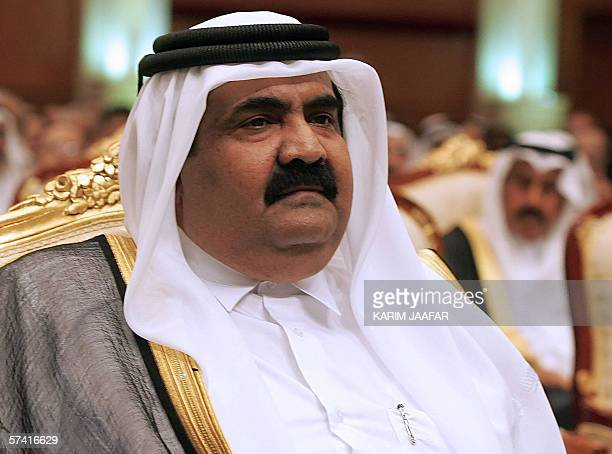 Emir of Qatar Sheikh Hamad bin Khalifa Al-Thani attends the opening session of the 6th Doha Forum on Democracy Development and Free Trade in Doha, 11...