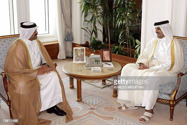 Newlyappointed Qatari Minister of State for Energy and Industrial Affairs Mohammed Saleh alSada meets with Crown Prince Sheikh Tamim bin Hamad...