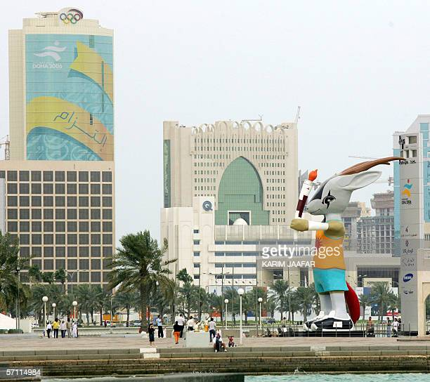 Orry a Qatari Oryx chosen as the mascot of the fifteenth Asian Games stands tall on the corniche in Doha17 March 2006 The Qatari capital is expected...