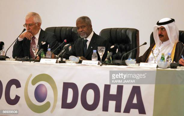 Qatari Prime Minister Sheikh Abdullah bin Khalifa al-Thani , United Nations Secretary General Kofi Annan and and Turkey's Minister of State Dr....