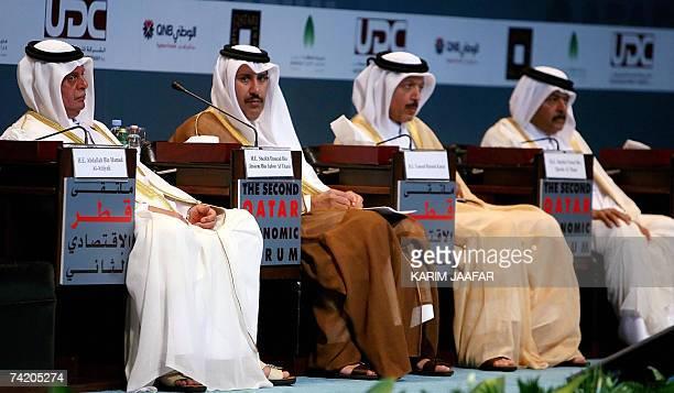Qatar's Deputy Premier and Minister of Energy and Industry Abdullah bin Hamad alAttiyah Qatari Prime Minister Sheikh Hamad bin Jassem bin Jabr...