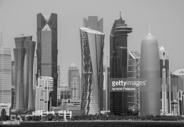 Doha skyline at sunrise, Qatar