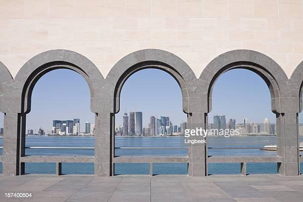 Skyline di Doha incorniciato