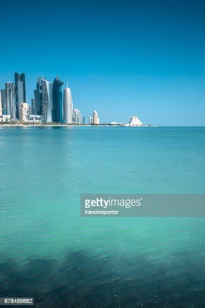 doha skyline in qatar