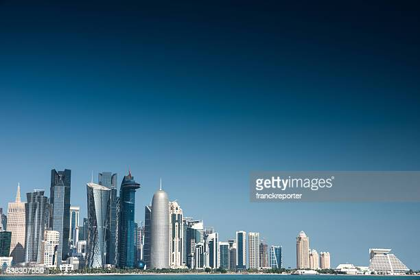 doha skyline of the downtown in Qatar