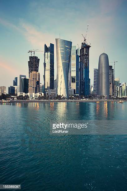 doha skyscrapers - doha stock pictures, royalty-free photos & images
