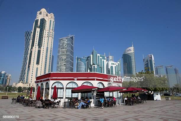 Doha Stadt Banken und Firmen