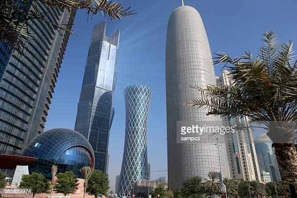 Doha Stadt Banken und Firmen Promenade La Corniche