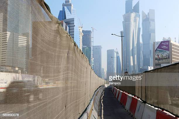 Doha Stadt Baustelle im Geschäftsviertel