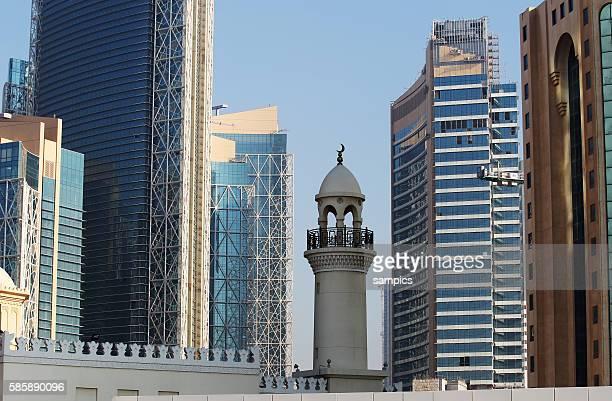 Doha Stadt Moschee im zwischen Wolkenkratzern