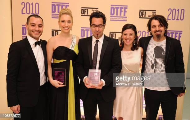 Doha Tribeca Film Festival coprogrammer Chadi Zeneddine Eva Star Sayre and director Mahmoud Kaabour Doha Tribeca Film Festival coprogrammer Hania...