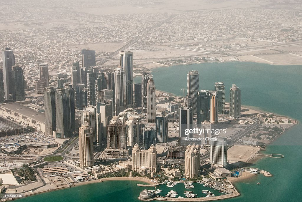 Doha West Bay Aerial : Stock Photo