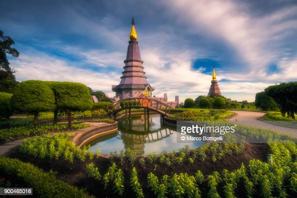 doi inthanon national park. chiang mai, thailand. - theravada stock pictures, royalty-free photos & images