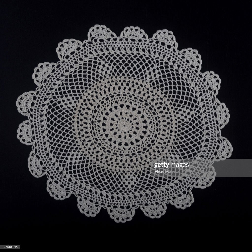 doily large flower : Stock Photo