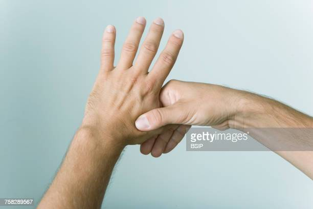 do-in - pressure point stock photos and pictures