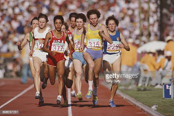 Doina Besliu-Melinte of Romania competes in the Women's 800 metres event at the XXIII Olympic Summer Games on 6th August 1984 at the Los Angeles...