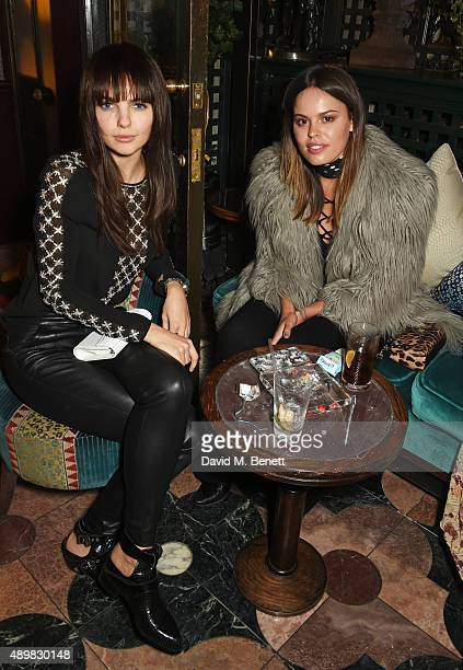 Doina Ciobanu and Atlanta de Cadenet Taylor attend Annabel's for an intimate dinner and exclusive performance with Selena Gomez at Annabel's on...