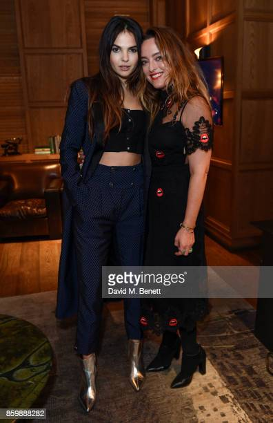 Doina Ciobanu and Designer Alice Temperley attend the launch of the book 'Alice Temperley English Myths and Legends' at The London Edition Hotel on...