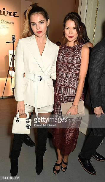 Doina Ciobanu and Sarah Macklin attend the launch of the Esquire Townhouse with Dior on October 12 2016 in London England