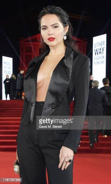 Doina Ciobanu arrives at The Fashion Awards 2019 held at Royal Albert Hall on December 2 2019 in London England