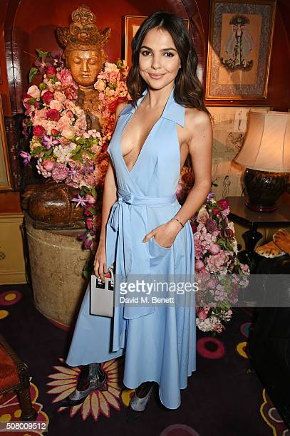 Doina Ciobanu attends a VIP dinner celebrating the launch of Mrs Alice for French Sole at Annabel's on February 2 2016 in London England