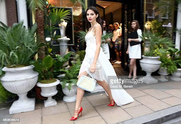 Doina Ciobanu attends Piaget 'Mediterranean Garden' Summer Party on July 15 2015 in London England