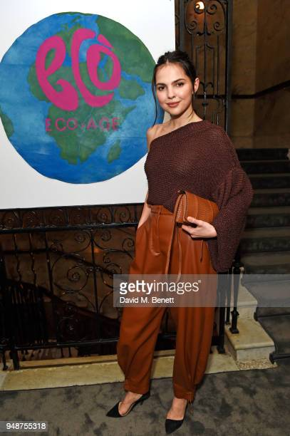 Doina Ciobanu attends the Eco Age Earth Day party at The London EDITION on April 19 2018 in London England