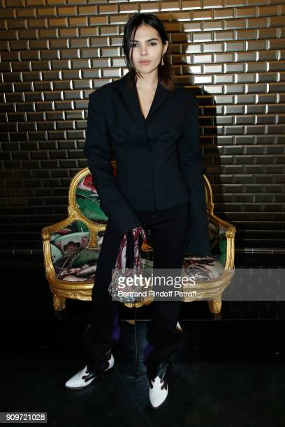 Doina Ciobanu attends the JeanPaul Gaultier Haute Couture Spring Summer 2018 show as part of Paris Fashion Week on January 24 2018 in Paris France